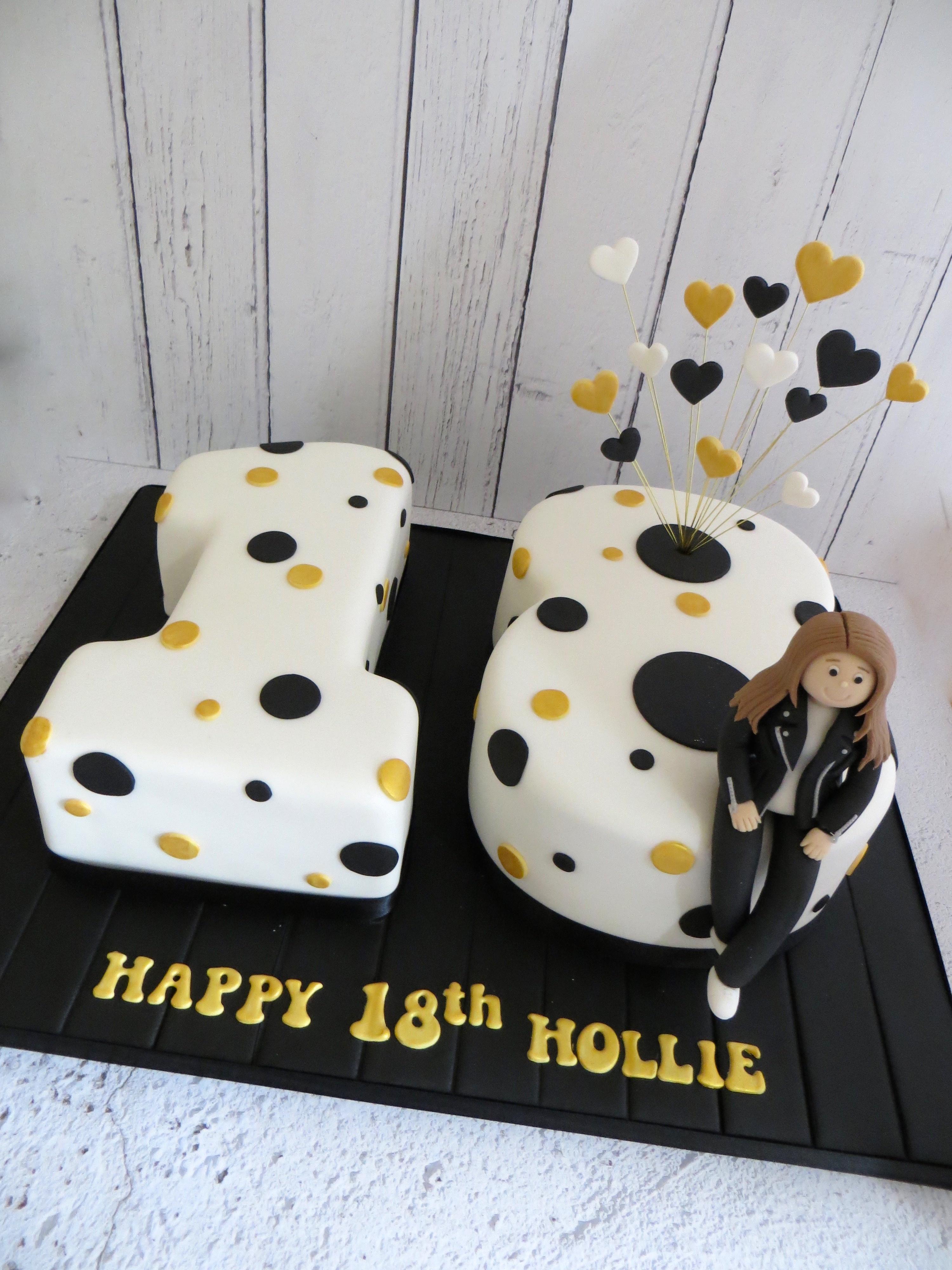 Stupendous 18Th Birthday Number Cake Funny Birthday Cards Online Inifodamsfinfo
