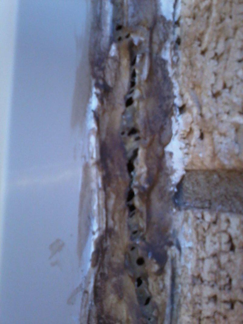 window caulking cracked and split