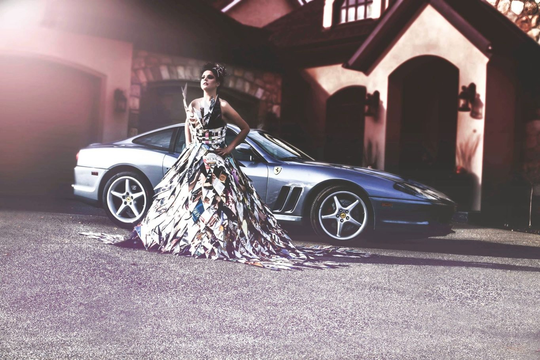 Model: Erikka Moojelsky; Makeup and Dress Design: Debra Kelly; Hair: Jason Mellor; Photographer: Randy Porter