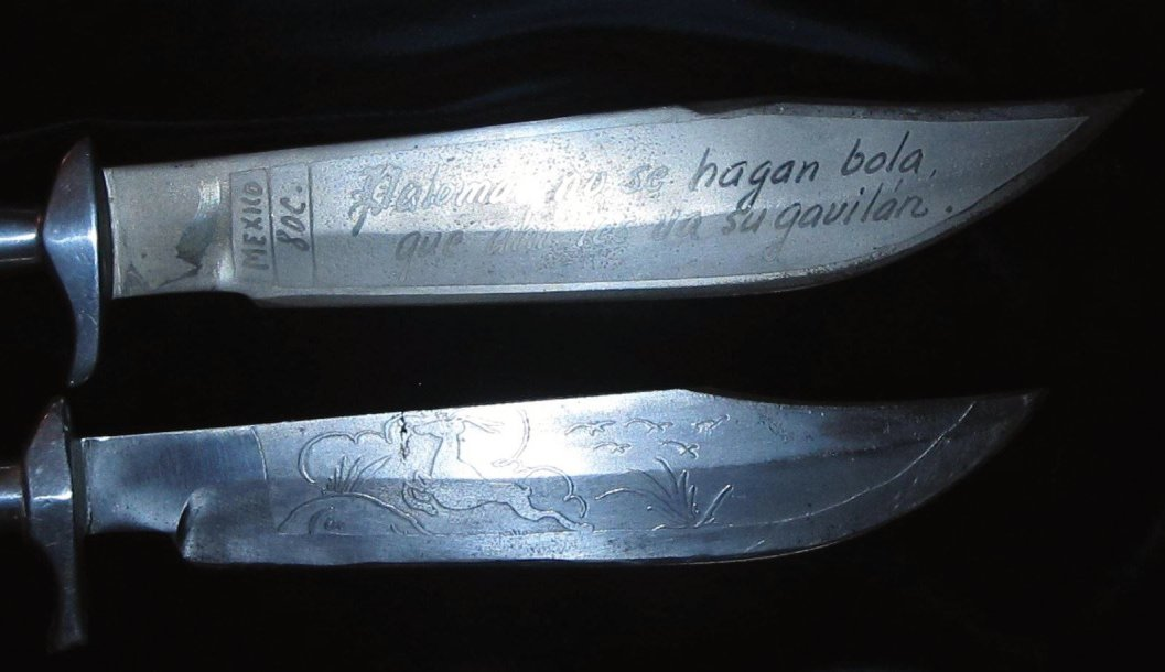 Mexican Bowies -- I love these Mexican blades; sheer artwork