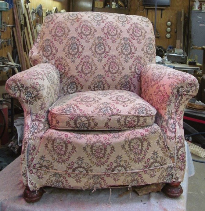 Chair before reupholstery
