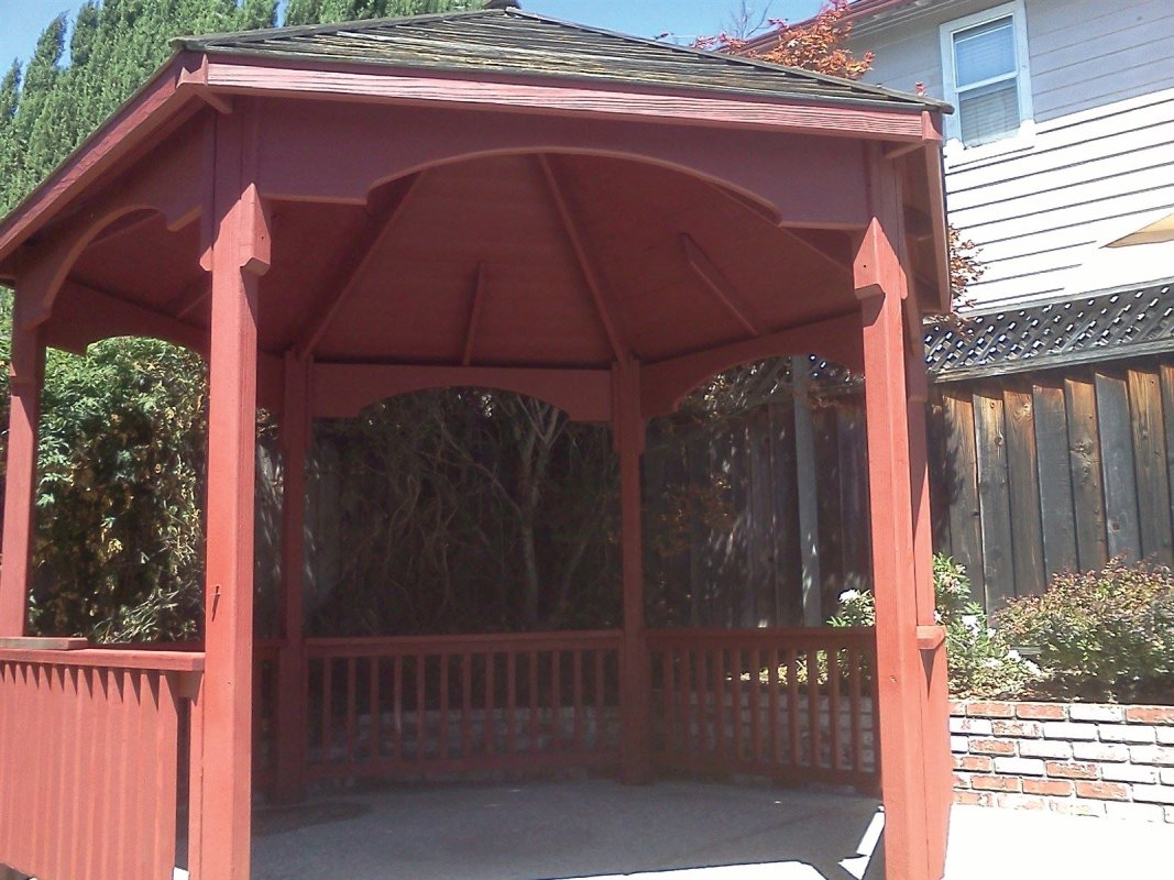 Gazebo F(2) Exterior wood staining, residential painting, Castro Valley painting contractor
