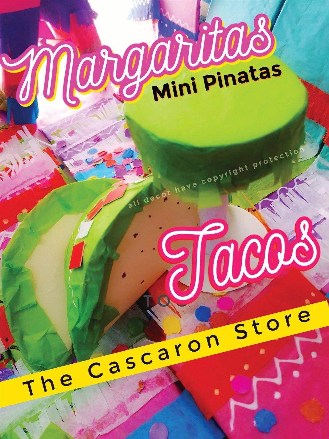 Fiesta Decorations Tacos & Margaritas Mini Pinatas