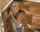 Drawer corner cabinet