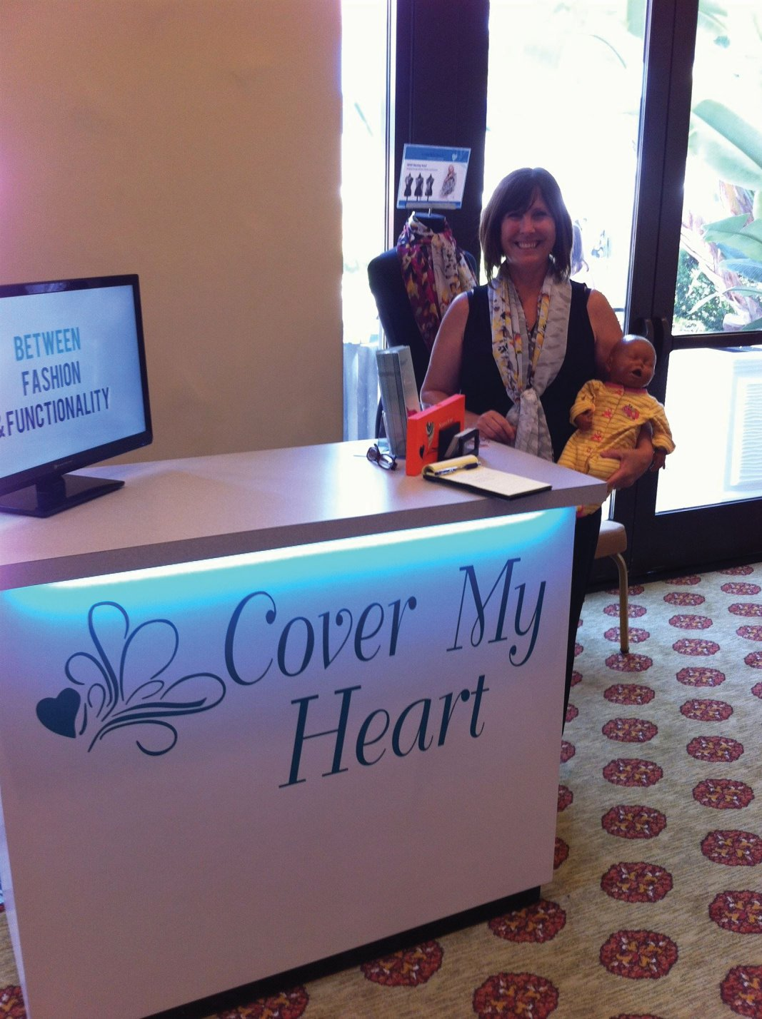 Sweet Pea Births meets April Marcial, creator and founder of CoverMyHeart nursing covers