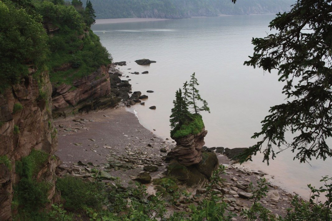 Flower Pot Rock at The Fundy Trail stands as a sentinel on the Bay of Fundy.