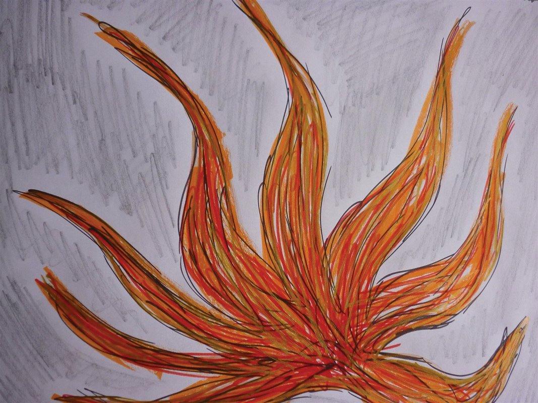 Elemente-Symbol: Feuer in der Kunsttherapie