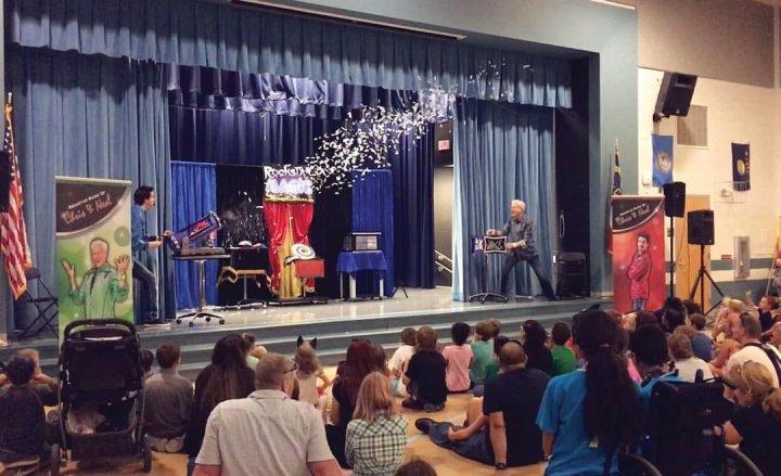 Raleigh Magicians Entertain Hundreds At Local Elementary School Near Raleigh North Carolina