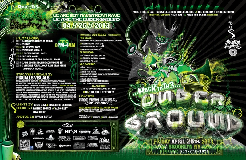 Back to the Underground (2013 FLYER FRONT-FULL)