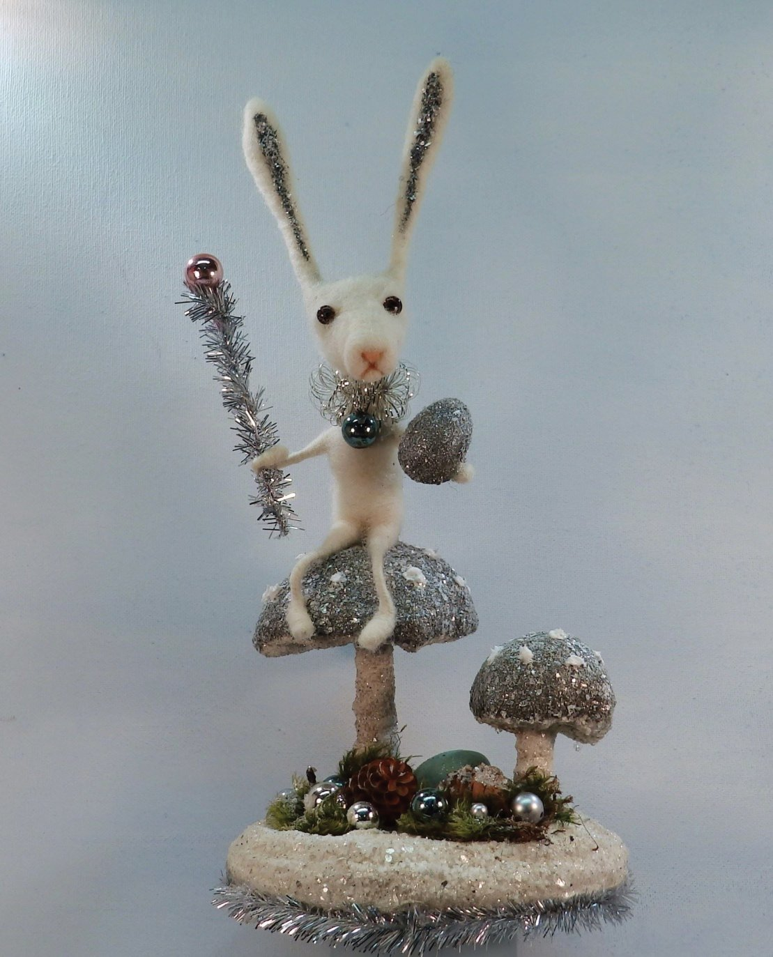 Baxter Bunny in Blue/Grey and Silver  accents