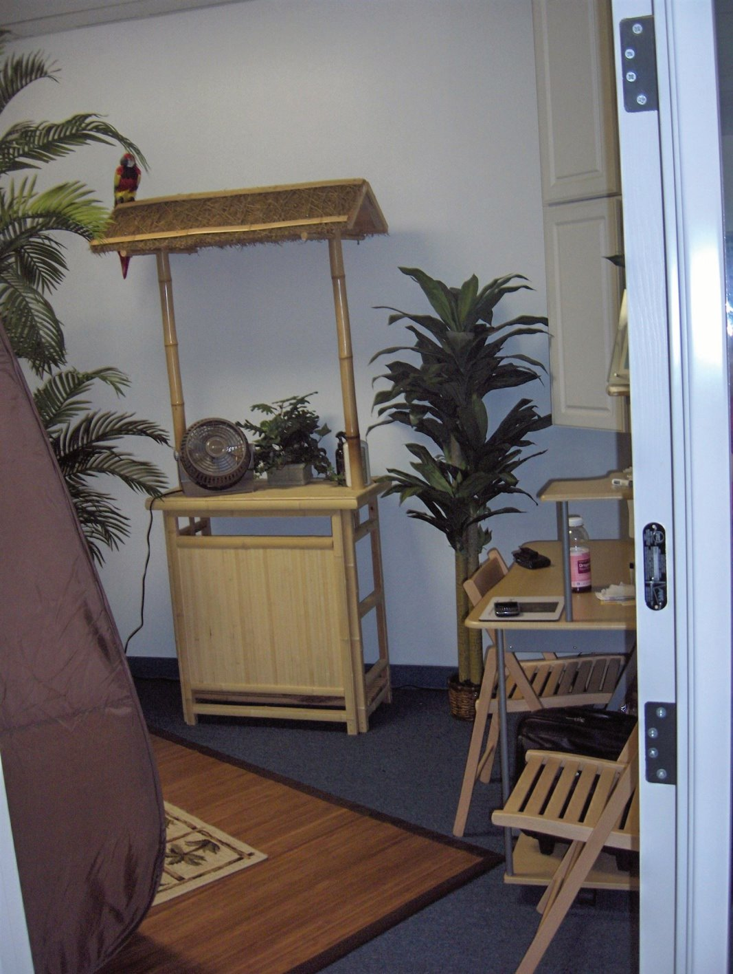 Spray Tan Room with Tiki Bar