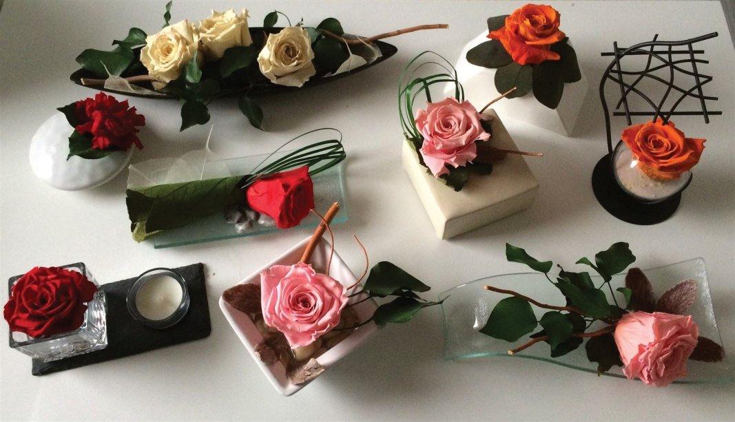 compositions florales stabilisées