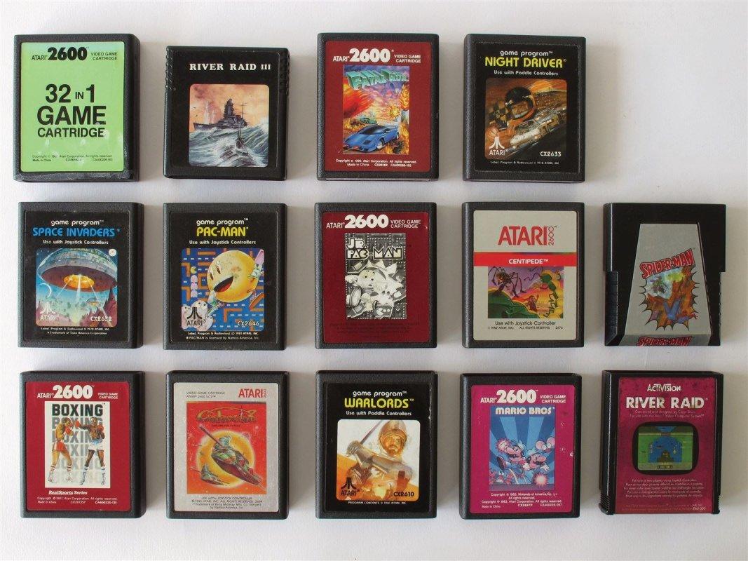 Atari 2600 game cardridges