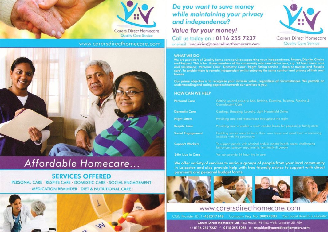 care service in leicestershire