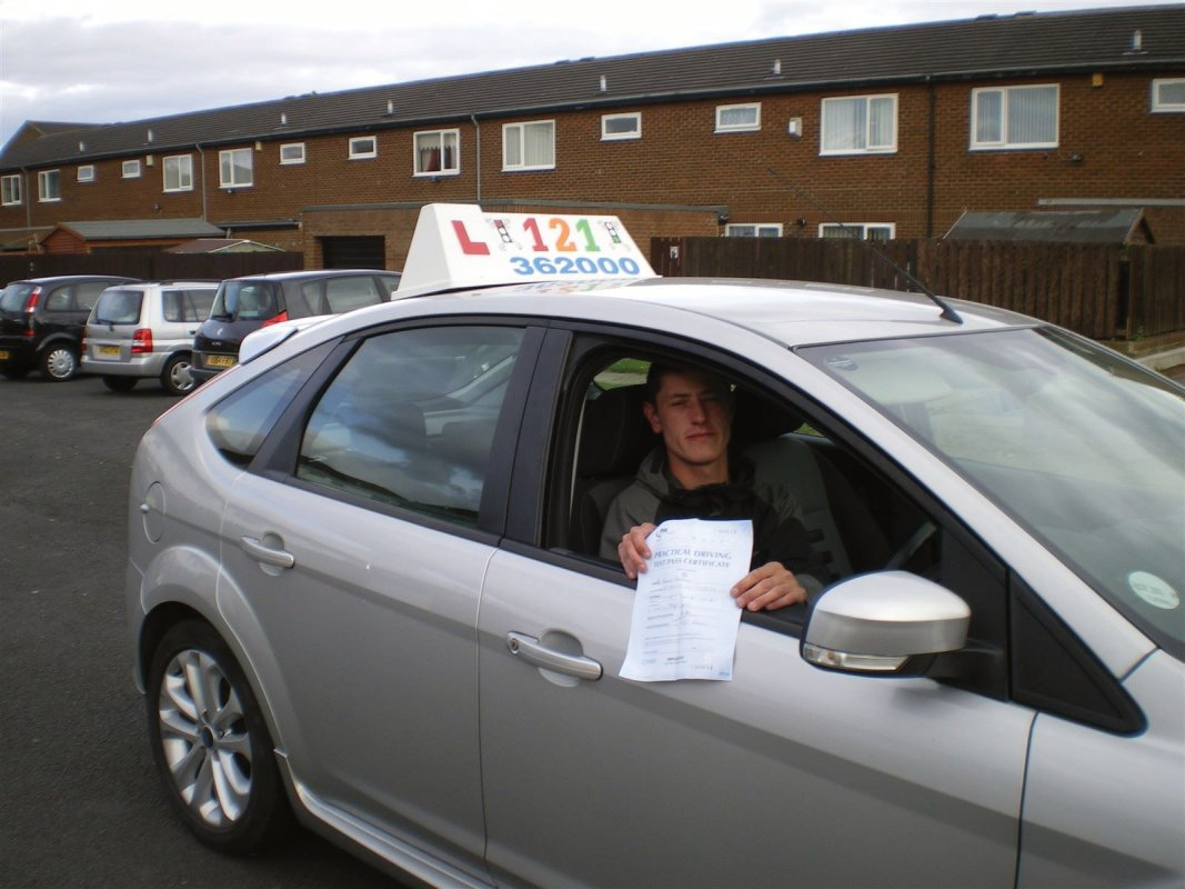 Andy, from Blyth, passed 1st time with zero faults.