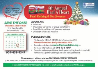 Donations needed for needy families in florida. Holiday food, clothing, toy drive 904 438-4347