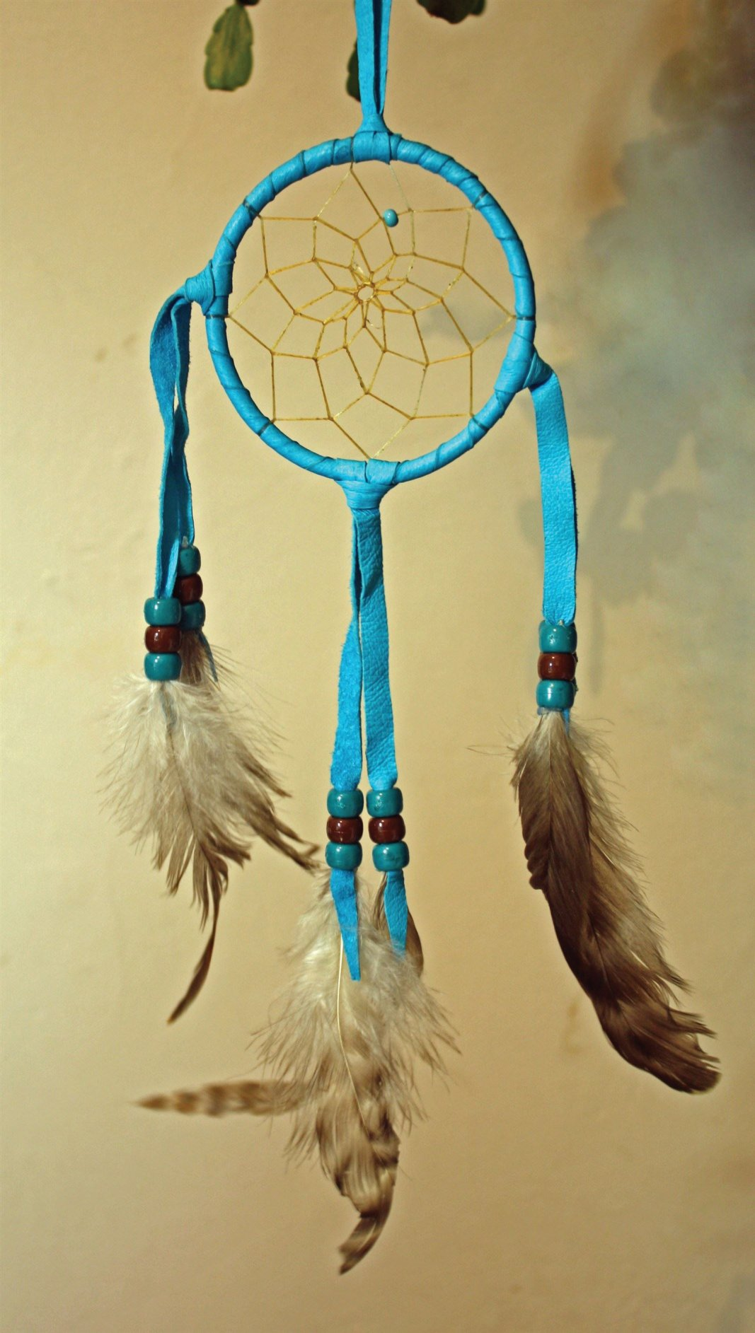 Navajo Made Turquoise Dream Catcher.