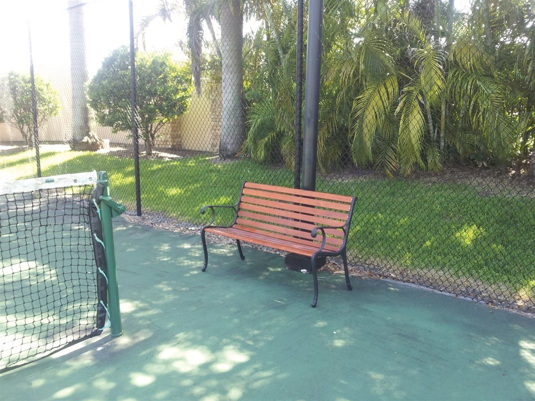 Tennis Court Reading Bench