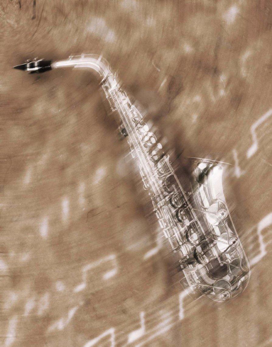 Saxophone:  Visual interpretation: 'Sweet Symphony.'