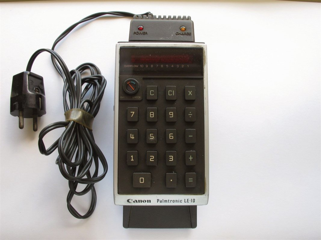 Canon LED calculator, rechargable