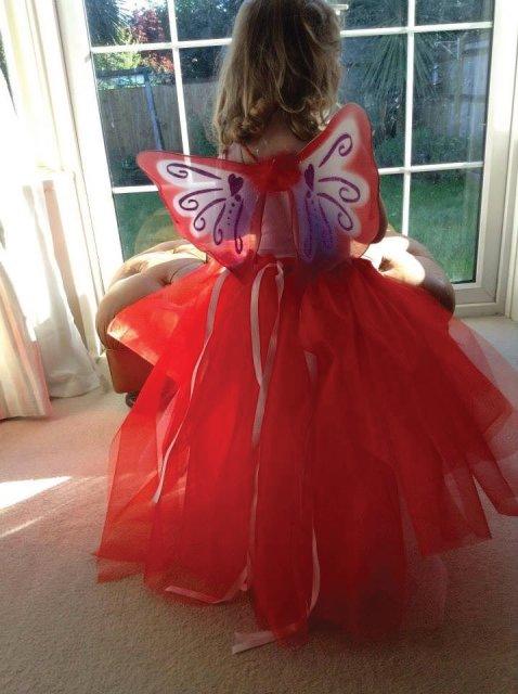 Red multiway full length skirt dress