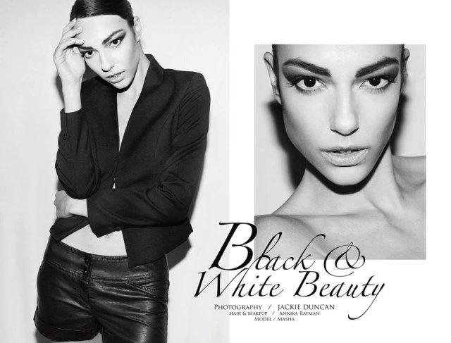 Photographer: Jackie Duncan; Model: Masha; HMUA: Annika Rayman