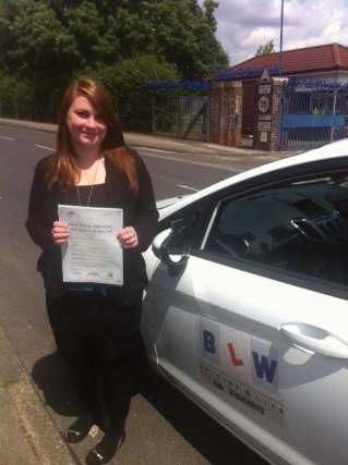 Debbie Milligan First time Pass with BLW Drriving4life