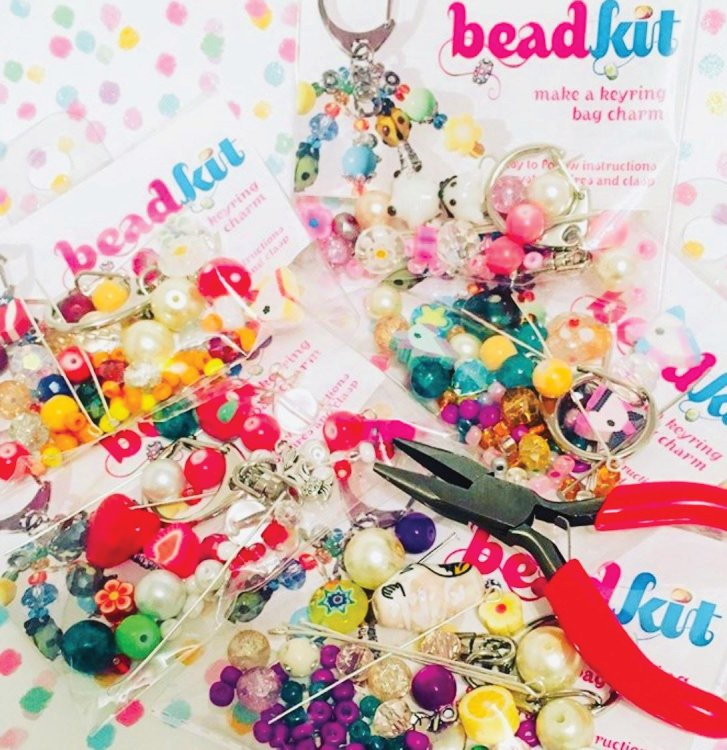 keyring making kit with good quality durable glass beads