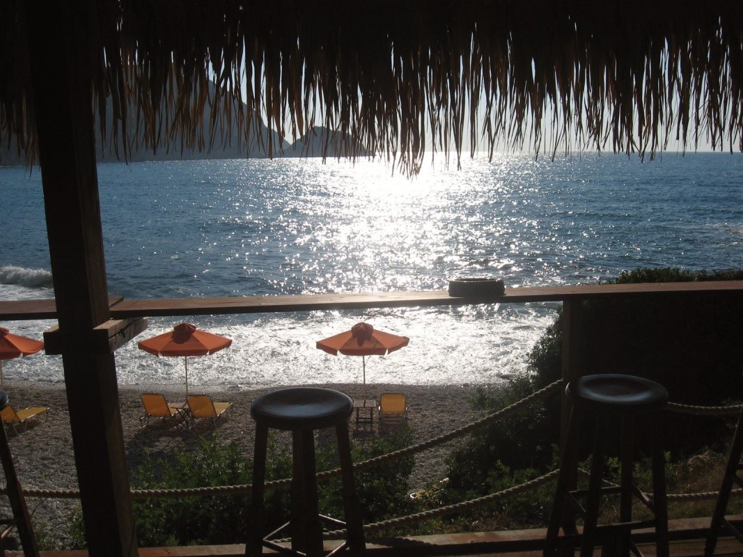 Petani beach is just minutes near to ERV Club, Kefalonia, Greece