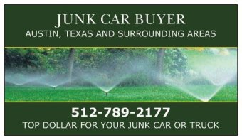 JUNK CAR BUYER AUSTIN TEXAS 512-789-2177 CARD