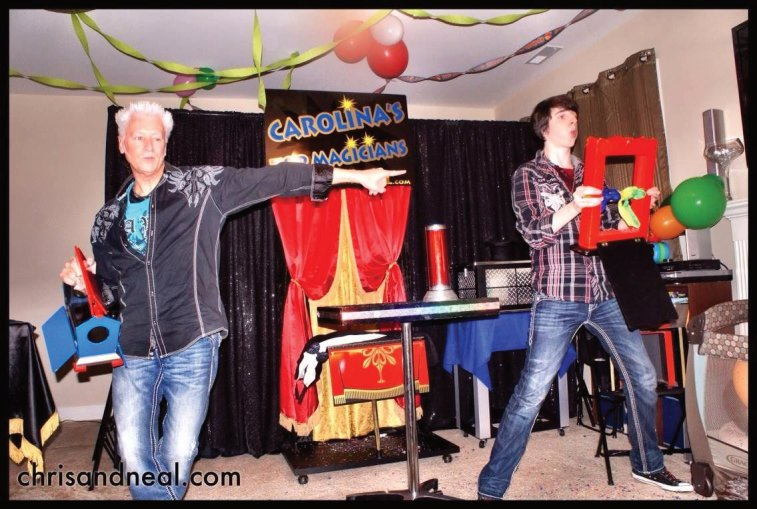 Chris and Neal are magicians and the life of the party in Raleigh North Carolina