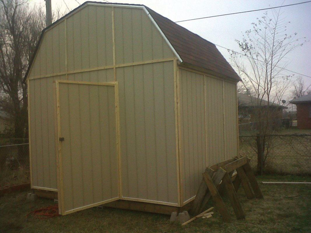 completed custom built storage building
