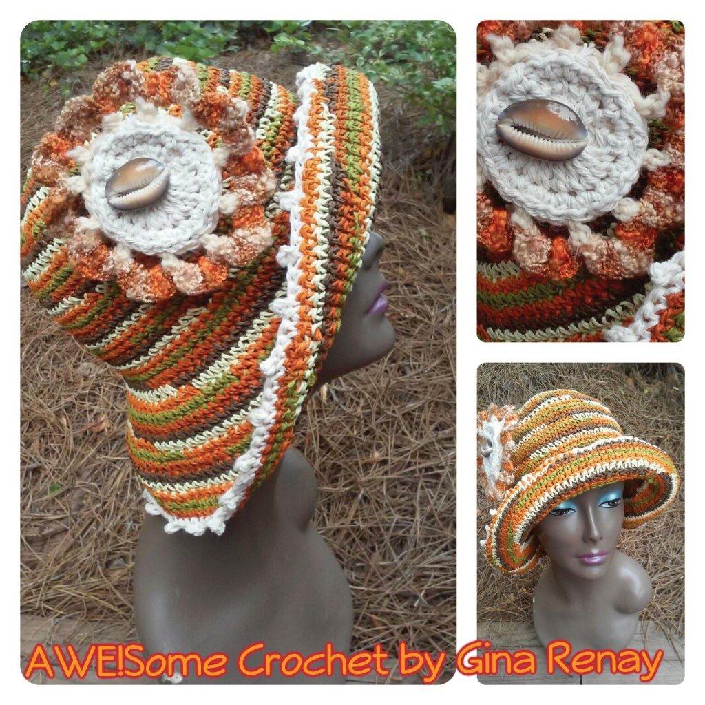 Raffia straw crochet hat flower  SPR05-305