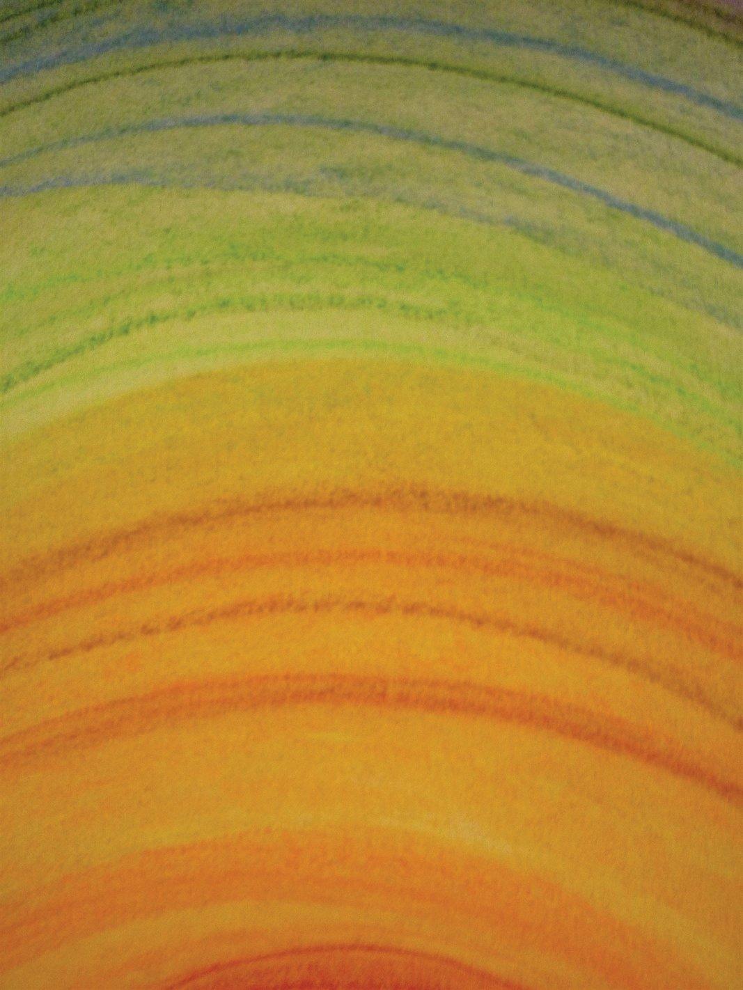 Orange, kraftvolle Farbe in der Kunsttherapie