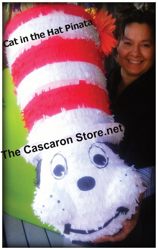 cat in the hat pinata custom decoration by the cascaron store