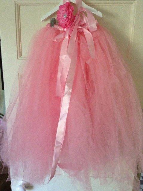 Pink multiway full length skirt dress