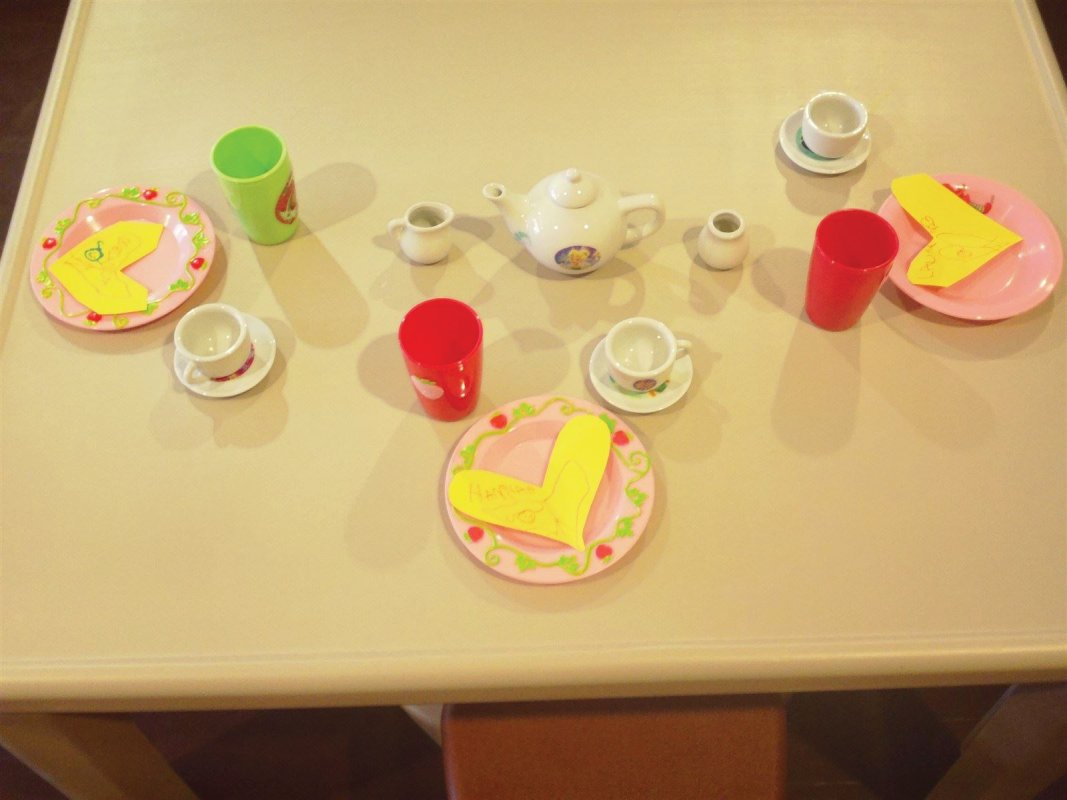 Getting ready for our tea party