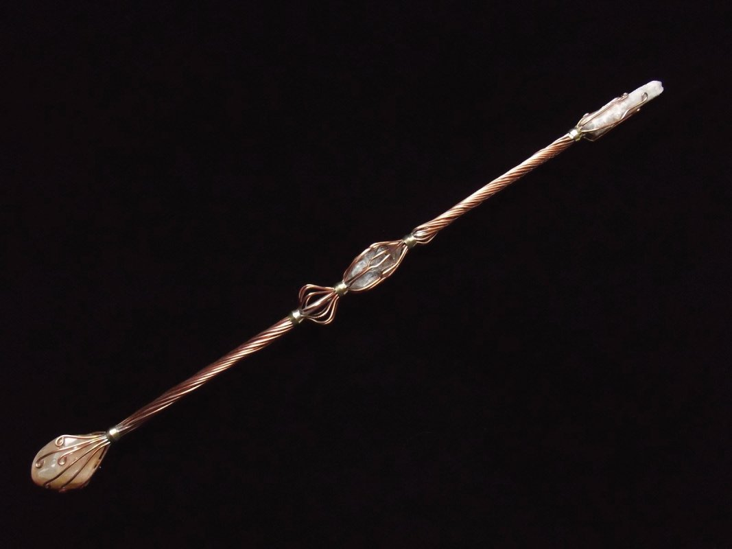 copper and crystal wand