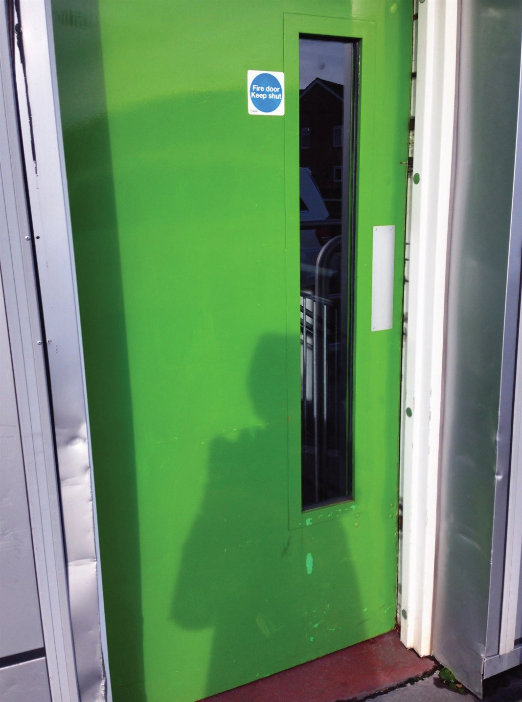 "The ""Green Door"" at Waitrose grocery store"