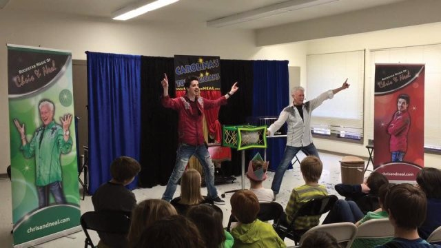 Kids Birthday Parties in Chapel Hill North Carolina with Magicians, Chris and Neal