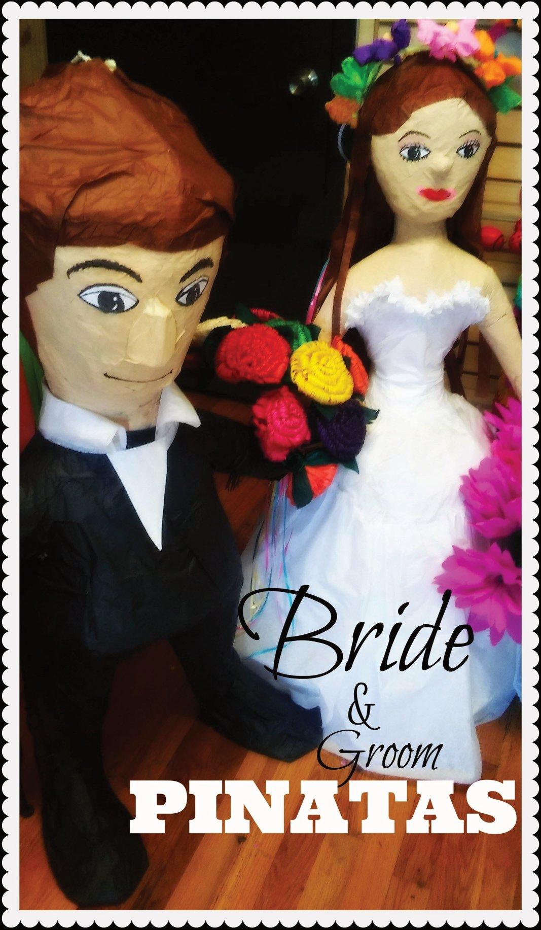 Wedding bride & Groom pinata by The Cascaron Store in San Antonio, Texas