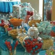 Red and Blue Candy Buffet orange County Fair Carnival Themed Wedding