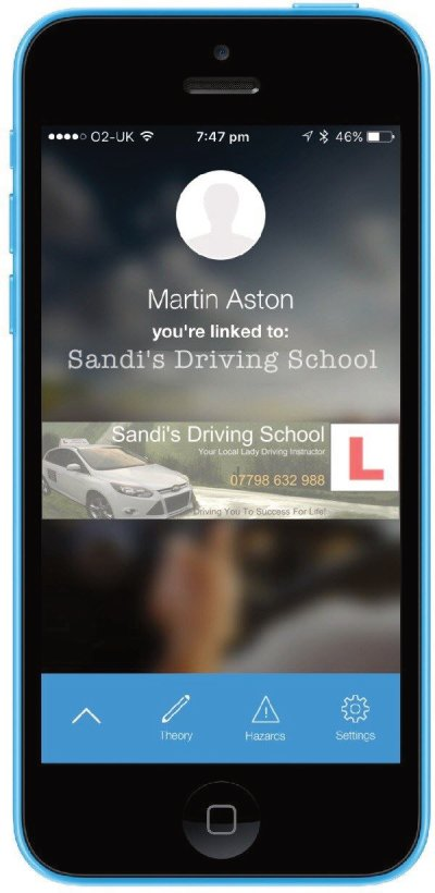 Sandi's Driving School instructors sync pupils app