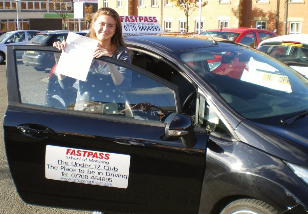 Driving Lessons Whitley Bay. Charlotte. www.fastpassschoolofmotoring.co.uk
