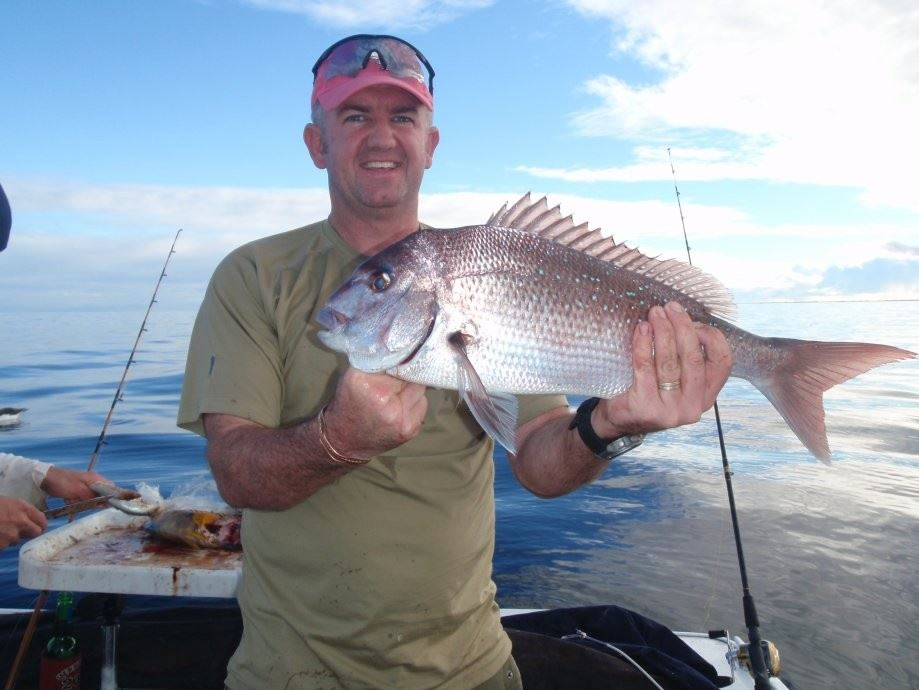 A nice red caught off SA using a shane doevy 40 lb wind on leader