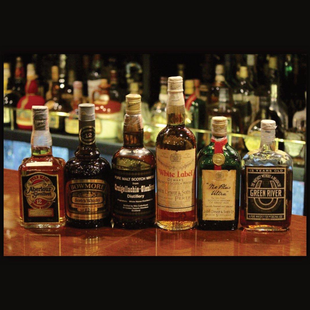 グリーンリバー 禁酒法時代 ネプラス・ウルトラ 特級時代 デュワーズ ティンキャップ クライゲラヒ ケイデンヘッド・ダンピー ボウモア 特級表記 アベラワー 12年 特級時代