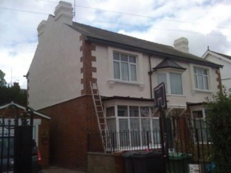 krend  white render finish  all rendering works carried out by leeds  pointing