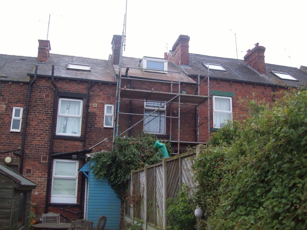 the repointing of brickwork and the changeing of guttering
