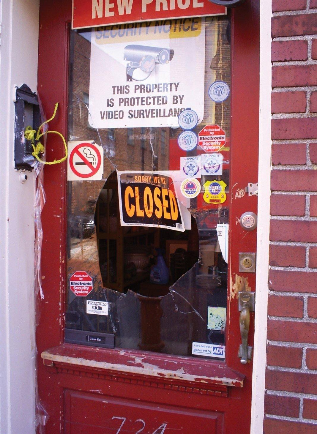 broken glass door repair