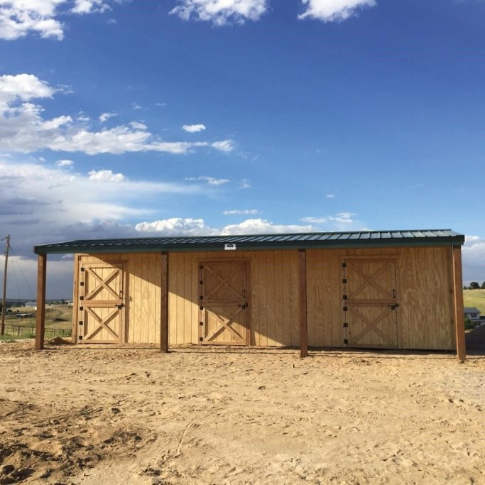 Loafing sheds, row barns, pole barns, barn, barns